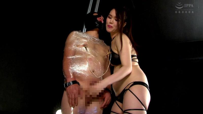 富井美帆が拘束M男のチ○ポを手コキ