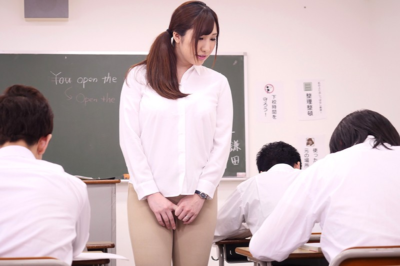 ねっとり乳揉み痴●で堕ちていく巨乳女教師NTR 若月みいな サンプル画像 5