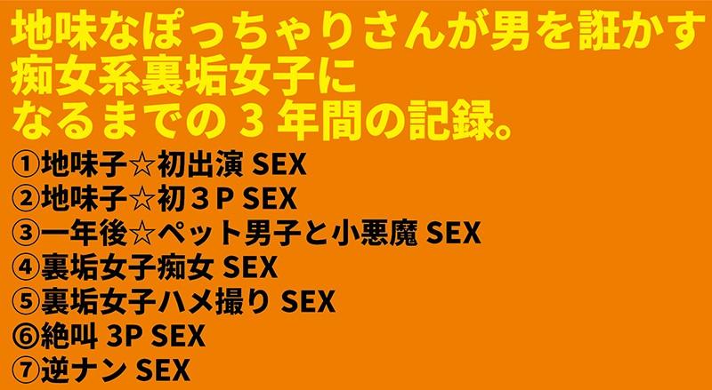 Mカップ樽モンスター豪華丼 7SEX収録×4時間 〜地味子がカリスマ裏垢女子になるまでの3年間の記録〜1