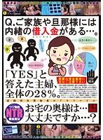 Q.ご家族や旦那様には内緒の借入金がある…。「YES」と答えた主婦、全体の28%。お宅の奥様は…大丈夫ですか…? ダウンロード