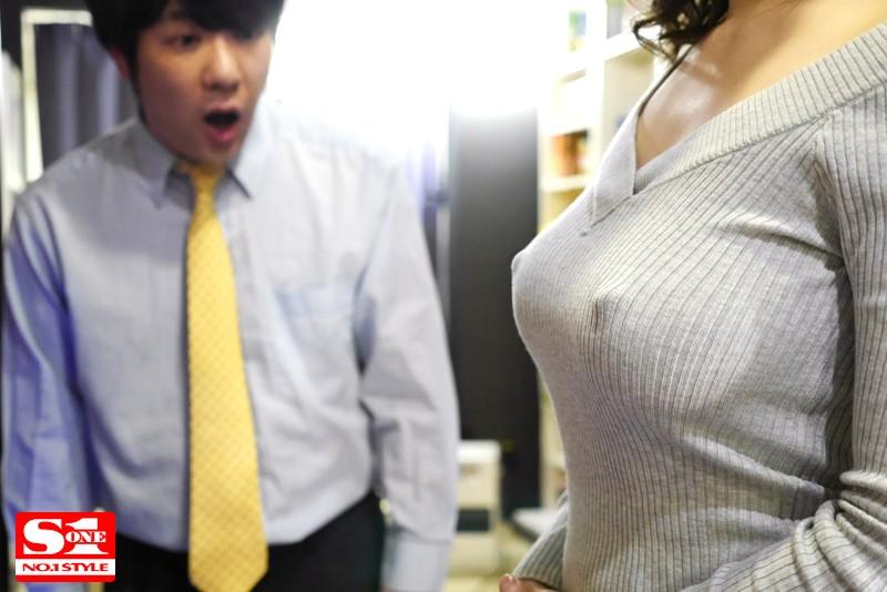 【パイズリ】ノーブラ透け乳首でこっそりOKサインを出して誘惑してくるむっつり巨乳お姉さま 葵 キャプチャー画像 8枚目