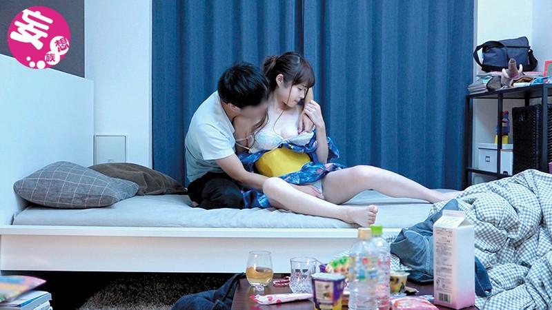 【お姉さんキス】スレンダー色白でエロい美乳のお姉さん素人の、キス正常位プレイがエロい!