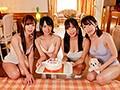 美少女4人を僕ひとりで独占!超ハーレム5Pスペシャルsample1