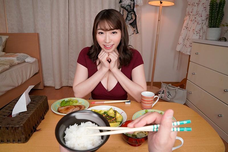 【VR】隣の綺麗なお姉さんのおっぱいで超誘惑してくる晩御飯 もなみさん 2