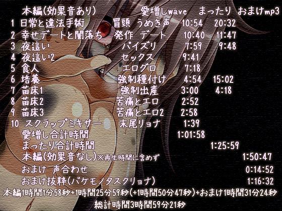 バケモノ少女の日壊記 えっち重視のリョナ音声のサンプル画像2