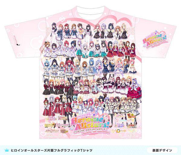 ensemble ヒロインオールスターズ フルグラフィック Tシャツ Lサイズ(再販)