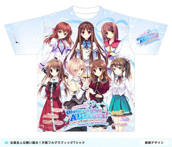 ensemble 女装主人公オールスターズ フルグラフィック Tシャツ Mサイズ(再販)