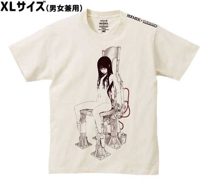 【思春期マーブル】みかんR チェアTシャツ XLサイズ