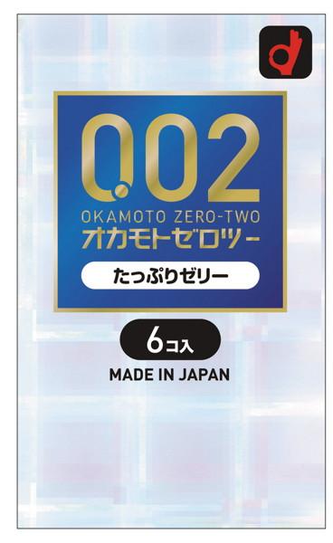 [iteminfo_actress_name] 大人のおもちゃ、1000円以下、極薄、おすすめ商品、コンドーム オカモトゼロツー たっぷりゼリー 6個