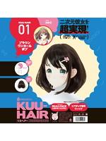 KUU-HAIR[くうヘアー] 01. ブラウンワンカールボブ つかこ