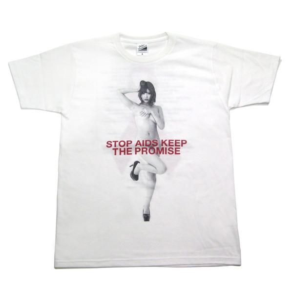 RED RIBBON T-SHIRT(サイズL/ホワイト)モデル:明日花キララ