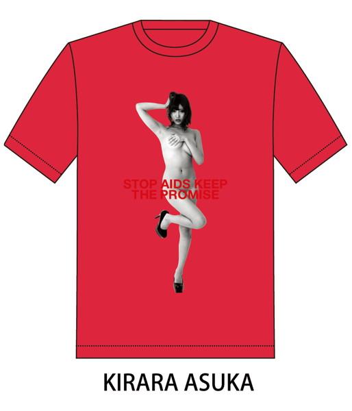 RED RIBBON T-SHIRT(サイズL/レッド)モデル:明日花キララ