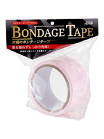 ボンデージテープ 桃 簡単拘束 非粘着SMテープ 20m使用