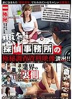 悪徳探偵事務所の極秘調査資料映像流出!!