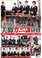 [DVDES-726] The Bowl-Legged Training of a Dignified Cabin Attendant with Beautiful Legs. An Intimate Report on the Wicked Training of Cabin Attendants Who Boldly Open Their Legs in Pantyhose with a Smile on Their Face ,in Any Situation, for Their Customers