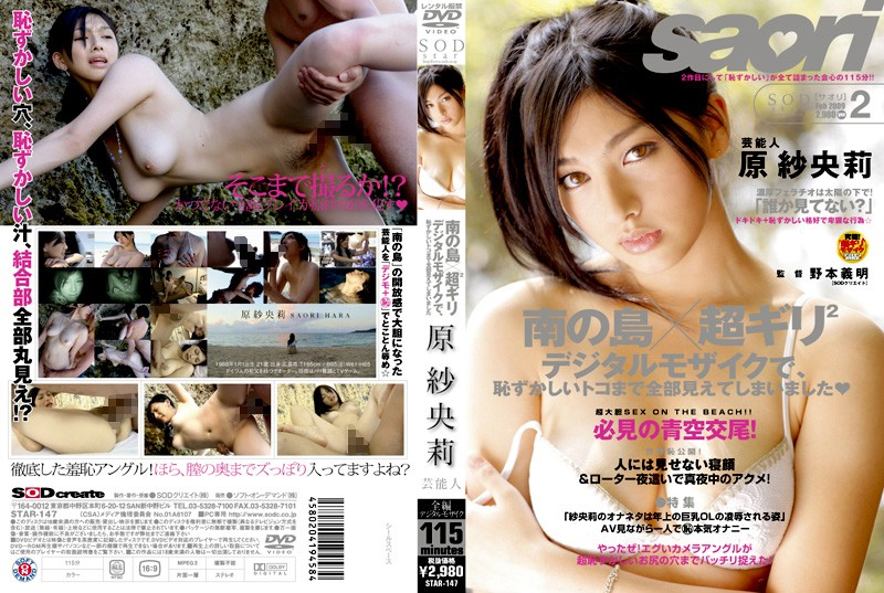 [STAR-147] 2 × Super Digital Mosaic Gili Saori Hara Southern Island Entertainer, Would See Was All Embarrassed To Toco