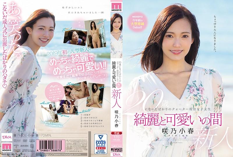 【ベストヒッツ】20歳になったばかりのクォーター現役女子大生 綺麗と可愛いの間 咲乃小春【アウトレット】
