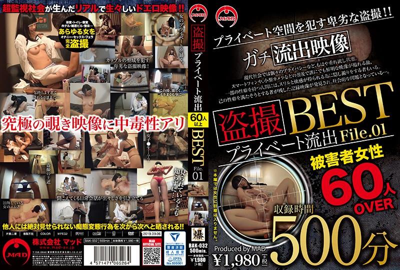 [BAK-032] 盗撮 プライベート流出500分 BEST File.01