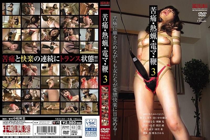 [NKD-213] 苦痛・熱蝋・電マ・鞭 3 NKD 辱め