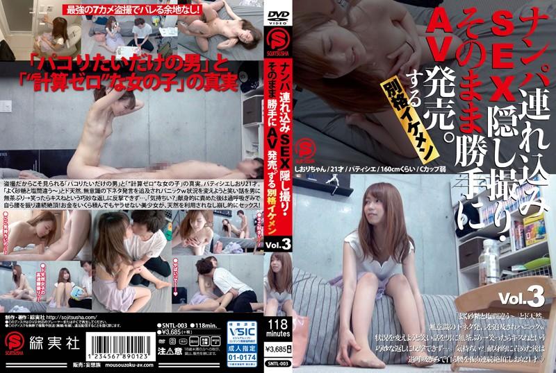 ナンパ連れ込みSEX隠し撮り・そのまま勝手にAV発売。する別格イケメン Vol.3 …SNTL-003…