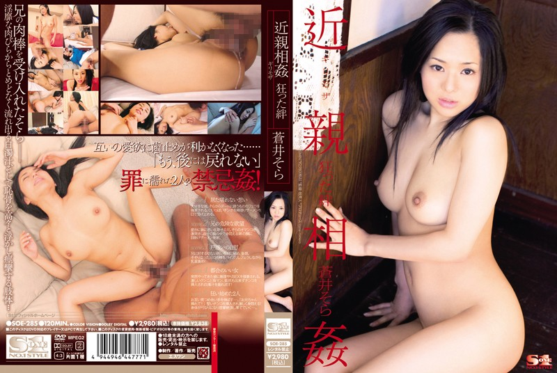 SOE-285 Bonds Crazy Incest Sora Aoi Risky Mosaic