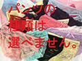 【数量限定】はじめ企画×WANZ初コラボ!つぼみVS素人娘 固定バイブだるまさんが転んだ パンティ付き  No.1